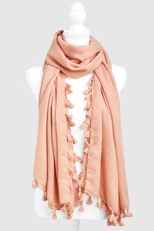 Next Pink Tassel Scarf - 242299
