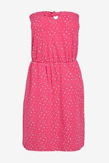 Next Pink Spot Bandeau Dress - 242360