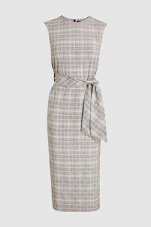 Next Grey Pastel Check Dress - 242367