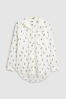 Next Cactus Print Casual Shirt - 242398