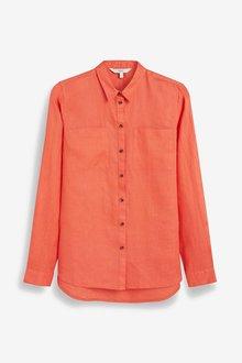 Next Coral Linen Shirt - 242401