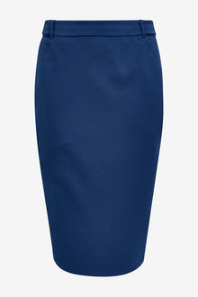Next Blue Tailored Fit Pencil Skirt - 242410