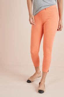 Next Coral Jersey Cropped Leggings - 242419
