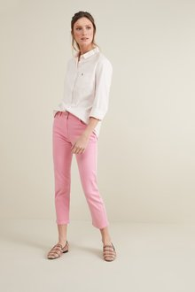 Next Pale Pink Soft Touch Cropped Jeans - 242423