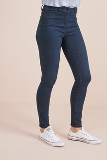 Next Inky Blue Denim Leggings - 242427