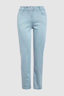 Next Pale Blue Soft Touch Cropped Jeans - 242428