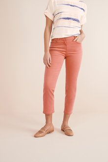 Next Terracotta Soft Touch Cropped Jeans - 242432