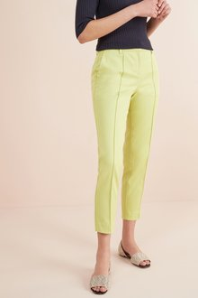 Next Lime Cotton Rich Capri Trousers - 242437