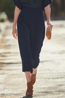 Next Navy Button Culottes - 242447