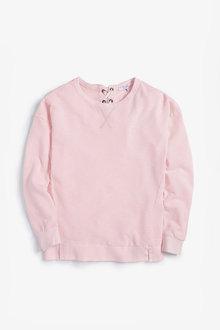 Next Fluro Pink Tie Back Sweatshirt - 242468