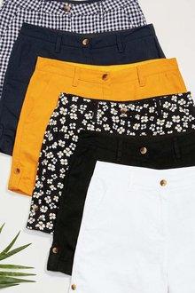 Next Ochre Linen Blend Shorts - 242478