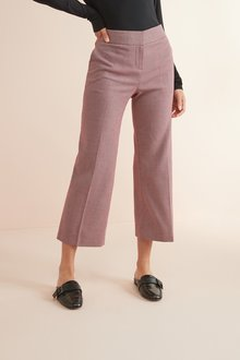 Next Pink Textured Tailored Culottes - 242498