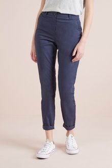 Next Navy Chino Trousers - 242499