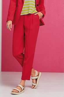 Next Red Elastic Back Taper Trousers - 242505