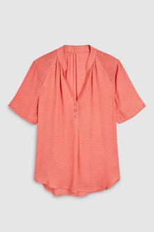 Next Pink Jacquard Top - 242562