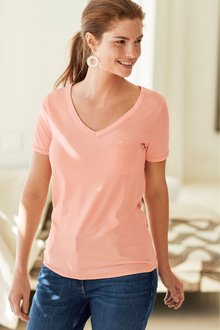 Next Coral Washed T-Shirt - 242564