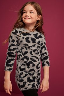 Next Animal Sparkle Jumper Dress (3-16yrs)