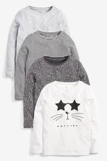 Next 4 Pack Long Sleeve T-Shirts (3-16yrs)