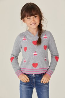 Next Star And Heart Hoody (3-12yrs)