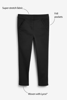Next Frill Detail Stretch Skinny Trousers (3-16yrs)