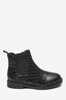 Next Croc Effect Chelsea Boots (Older)