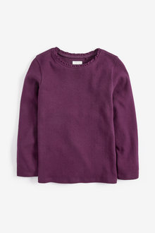 Next Long Sleeve Pointelle Top (3-16yrs)