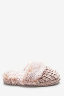 Next Faux Fur Mule Slippers (Older)