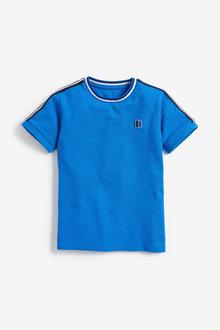 Next Short Sleeve Pique Taped T-Shirt (3-16yrs)