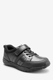 Next Sporty Elastic Lace Leather Shoes (Older) - 242681