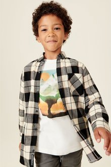 Next Check Shirt With Printed T-Shirt (3-16yrs)