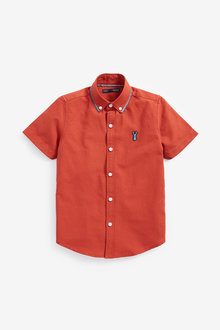 Next Short Sleeve Blue Collar Oxford Shirt (3-16yrs)