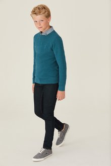 Next Jumper With Mock Shirt Collar (3-16yrs)