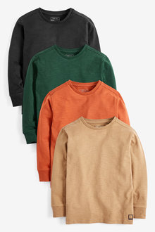 Next 4 Pack Soft Long Sleeve T-Shirts (3-16yrs)