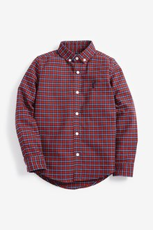 Next Long Sleeve Check Oxford Shirt (3-16yrs)