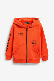 Next Zip Through Heavyweight Hoody (3-16yrs)