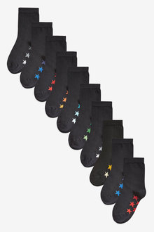 Next 10 Pack Cotton Rich Star Socks (Older)