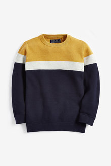 Next Colourblock Crew Jumper (3-16yrs)