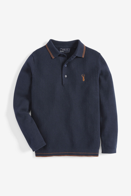 Next Knitted Polo (3-16yrs)