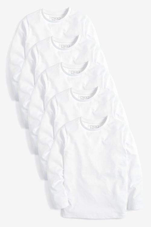 Next 5 Pack Long Sleeve T-Shirts (3-16yrs)