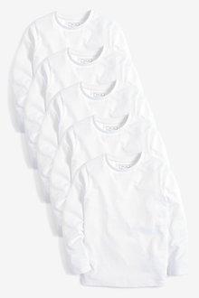 Next 5 Pack Long Sleeve T-Shirts (3-16yrs) - 242723