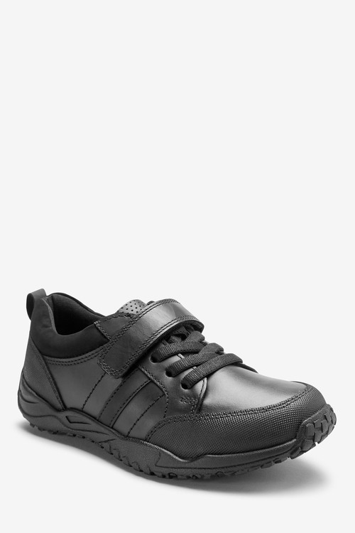 Next Sporty Elastic Lace Leather Shoes (Older)