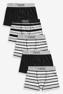 Next 5 Pack Stripe Trunks (2-16yrs)