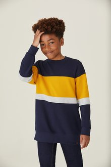 Next Colourblock Textured Crew (3-16yrs)