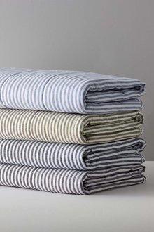 Hampton Stripe Quilted Linen Throw - 242746