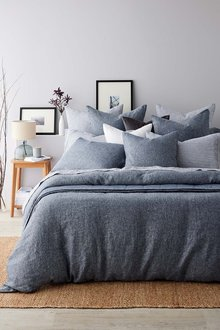 Hampton Chambray Linen Duvet Cover Set - 242758