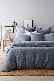 Hampton Chambray Linen Duvet Cover Set - 242758