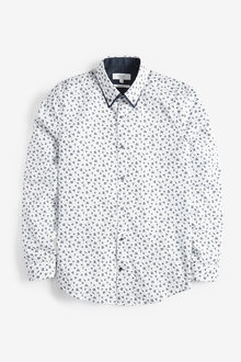 Next Double Collared Shirt-Regular Fit