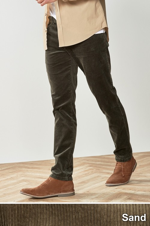 Next Jean Style Cord Trousers-Slim Fit