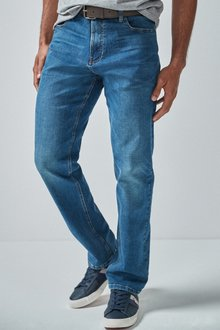 Next Jeans With Belt-Straight Fit