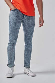 Next Skinny Fit Snow Wash Jeans